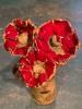 Mohnblüte an schwingendem Federstahl, Preis pro Stück