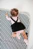 Breton Babydecke - Schwarz & Weiß gestreift