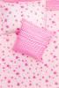 Kinderbettwäsche - Sterne & Streifen Neon Pink 135 x 200 cm