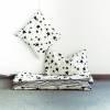 Baby Bettwäsche - Sterne & Streifen Schwarz 100 x 135 cm