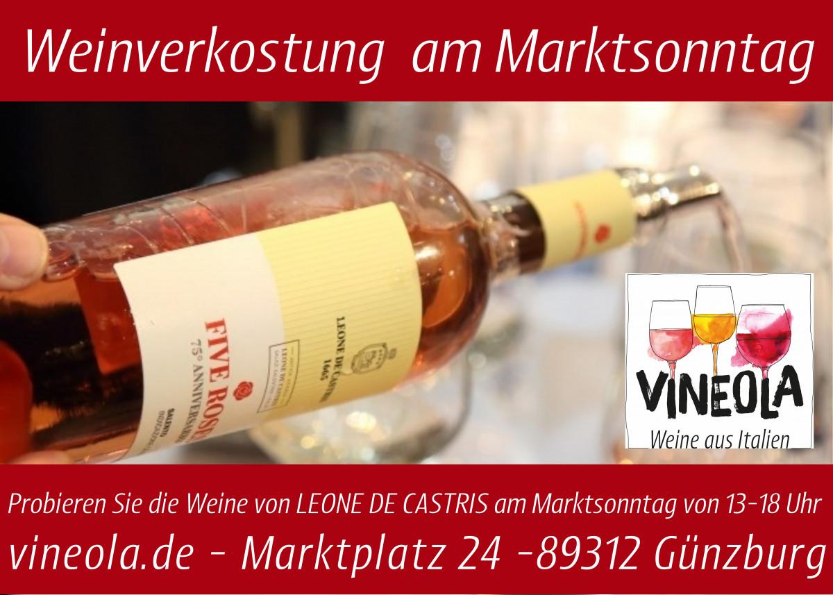 Weinverkostung am Marktsonntag