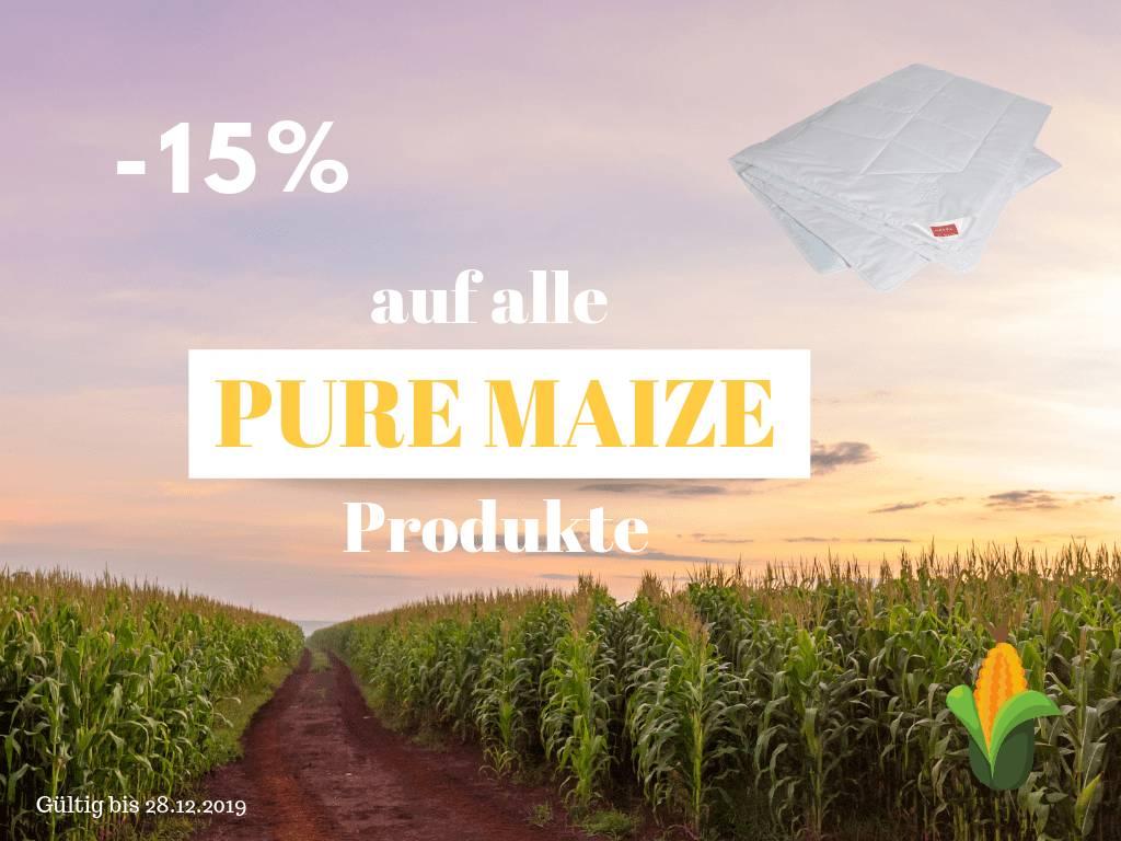 -15% auf alle Pure-Maize Produkte