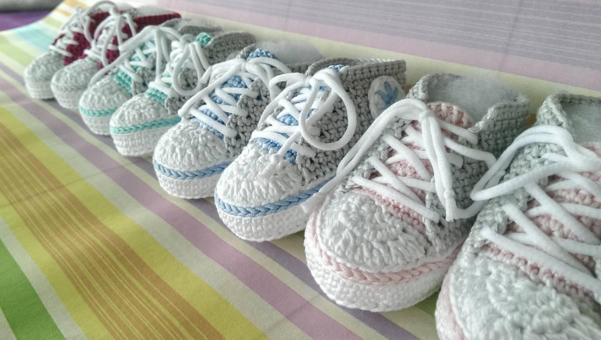 Wir Häkeln Baby Turnschuhe über 2 Termine 13072018 1030