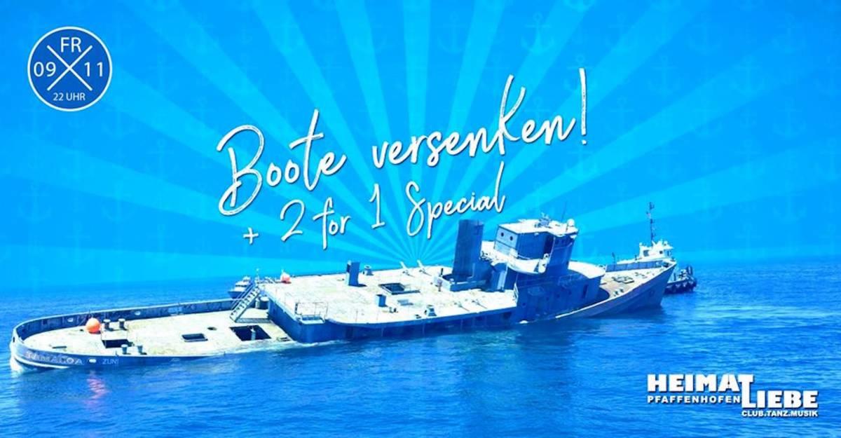 Boote versenken + 2for1 Special