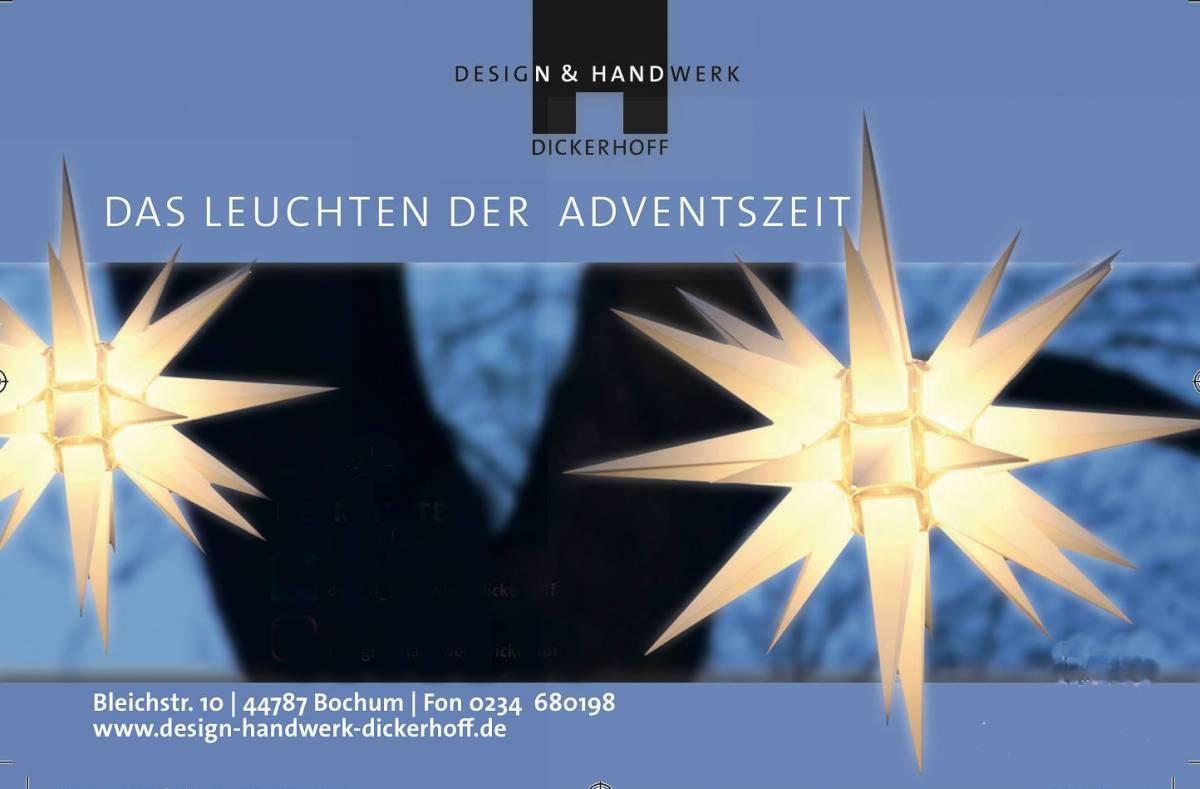 Design + Handwerk Dickerhoff und Brummbär auf dem Bochumer Weihnachtsmarkt