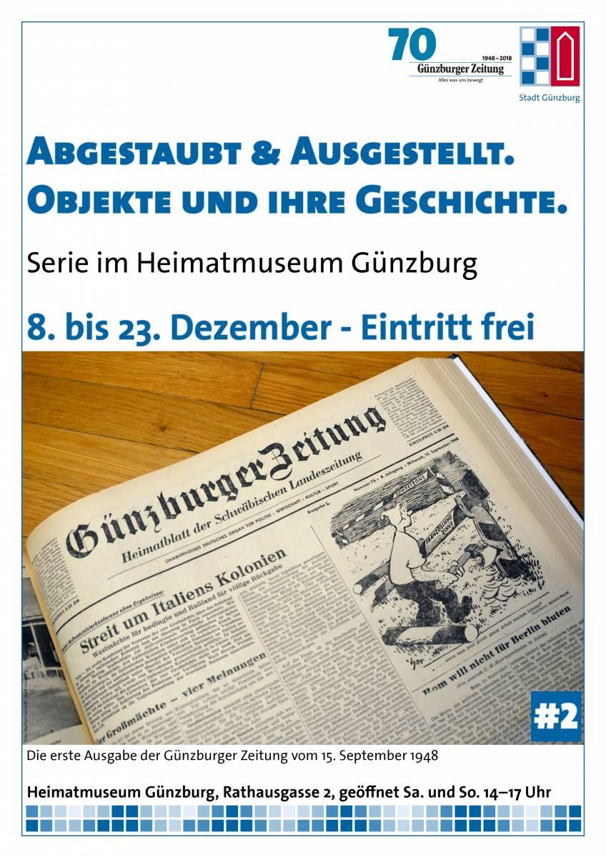 Abgestaubt & Ausgestellt #2: Podiumsgespräch mit Rebekka Jakob, Günzburger Zeitung