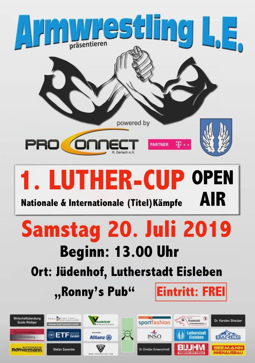 """Armwrestling """"Luther-Cup"""""""