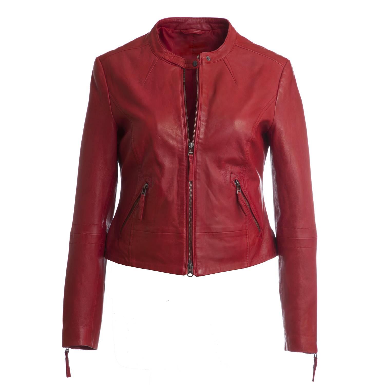 brand new 41cd8 eb278 Kurze Lederjacke, Damen, Modell Doris, Farbe rot, bei Lederbekleidung  Paschinger kaufen.