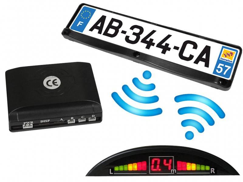 Fils Sb323 Bc Led Sans Elec Recul Afficheur L Avec Radar Support De Et Plaque WY29EDHI