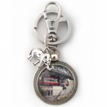 Schlüsselanhänger 'Tuffi - Sprung', silbern
