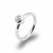 Verlobungsring und Antragsring mit  einem Brillant - Ring  in 750 Weißgold –  Handarbeit aus unserer Meisterwerkstatt