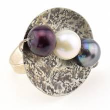 Ring Silber mit Perle