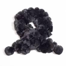 Kaninschal, schwarz, Länge 135 cm, 100% natur, Winterschal bei Lederbekleidung Paschinger kaufen.