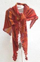 INVERO - Strick Accessoire - Dreiecktuch - Serie TÖNE rot