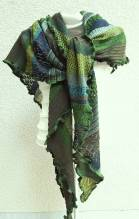 INVERO - Strick Accessoire - Dreiecktuch - Serie TÖNE Grün