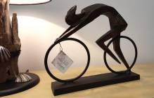 Poly-Skulptur: Rennradfahrer 'Racer'