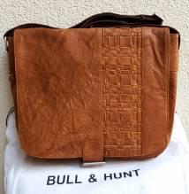 BULL & HUNT Ledertasche Space 'Weaving' - Überschlagtasche mit Wendefunktion