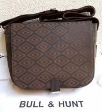 BULL & HUNT Ledertasche Twenty-F 'Rhombus' - Überschlagtasche mit Wendefunktion