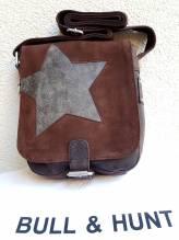 BULL & HUNT Ledertasche Speed 'Star' - Überschlagtasche mit Wendefunktion