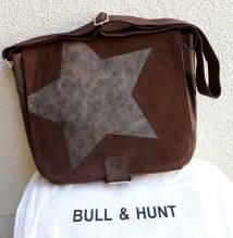 BULL & HUNT Ledertasche Space 'Star' - Überschlagtasche mit Wendefunktion