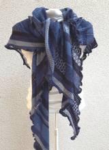 INVERO - Strick Accessoire - Dreiecktuch - Serie TÖNE Blau