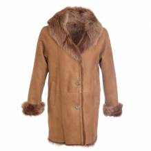 Toskana-Lammfellmantel, Damen, Modell Paris, Farbe: camel, bei Lederbekleidung Paschinger kaufen