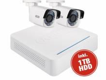 ABUS Videoüberwachungsset: Netzwerk Digitalrekorder + 2 WLAN Außenkameras