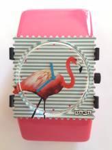 S.T.A.M.P.S. - Uhr 'Pink Flamingo' auf BELTA Classic Pink