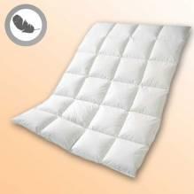 Daunendecke Valuga, Größe: ca. 140cm x 200cm, 90% Daunen, 10% Federn, warme Winterdecke, für Hausstauballergiker geeignet