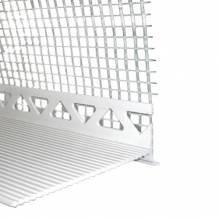 Sockelkantenprofil mit PVC 120mm