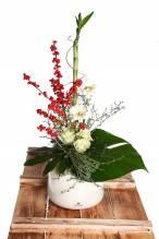 Inspirio Keramikkvase mit Blumenstrauss