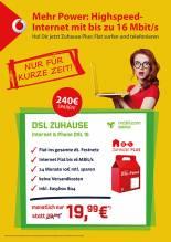 Vodafone DSL 16000 für 19,99€ monatlich