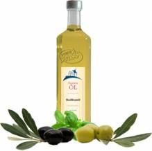 Basilikumöl Olio extra vergine d'oliva al basilico natives Olivenöl extra mit Basilikumextrakt