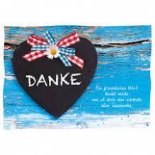 Grußkarte / Postkarte Danke Ein freundliches...