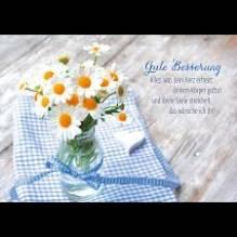 Grußkarte / Postkarte Gute Besserung von Herzen.....