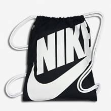 Nike Heritage Gymsack Swoosh Farbe schwarz + grau