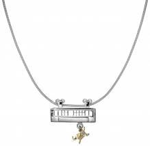 Limitiertes Tuffisprung Brillantcollier - Silber mit Gelbgold