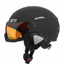 Alpina Skihelm mit Visier MENGA JV  Farbe: black matt