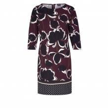s.Oliver Black Label Kleid mit Blumenmuster braun/rot/schwarz-34