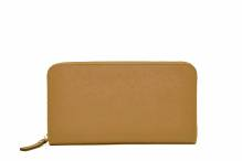 Wallet with  smartphone charger - tan