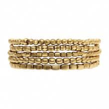 Tracey elastic bracelets - set of 5 - gold