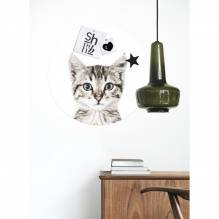 Round Magnetic Wall StickerCat