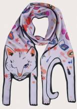 Love Potion Cat - Animal Silk Scarf