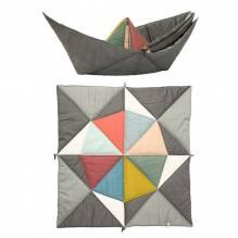 Baby-Krabbeldecke – Origami Schiff