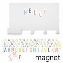 Magnettafel mit Haken und pastell Buchstaben