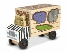 Safari Truck Puzzlebox - Jeu de baguette en bois