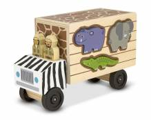 Safari Truck Puzzlebox - Holzsteckspiel
