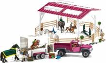 Schleich - École d'équitation avec pick-up et van