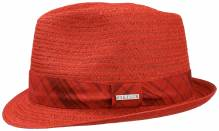Stetson Player Trilby aus Stroh rot