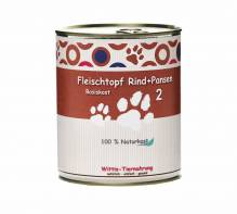 Hundefutter Wittis Naturkost für Hunde - Rind + Pansen